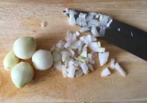 geschnittene Zwiebeln
